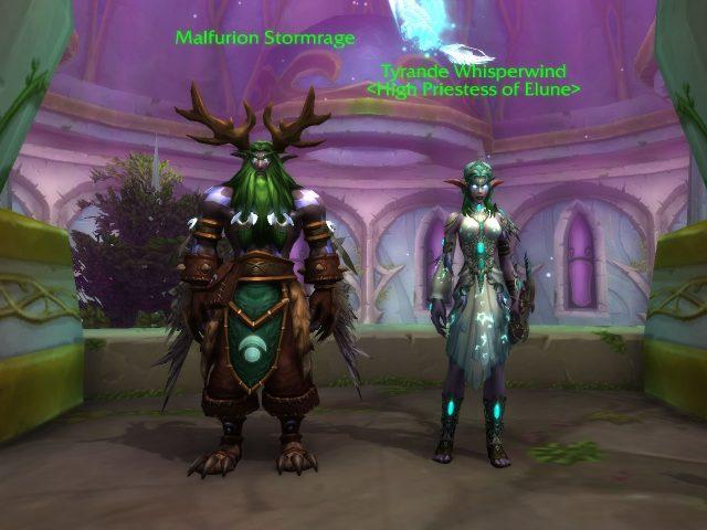 「World of Warcraft: Legion」スクリーンショット マルフュリオンとティランダ