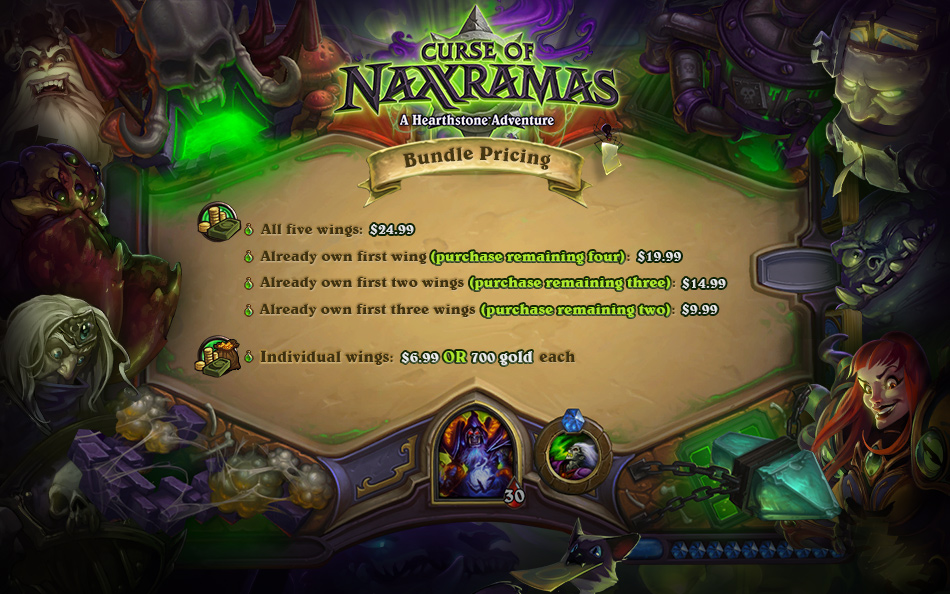 「Curse of Naxxramas」入場料