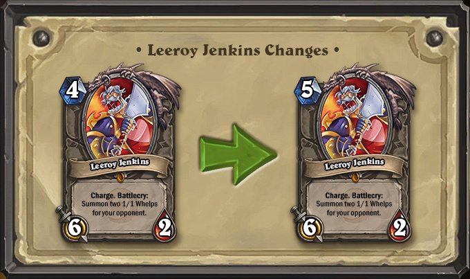 Leeroy Jenkins Changes