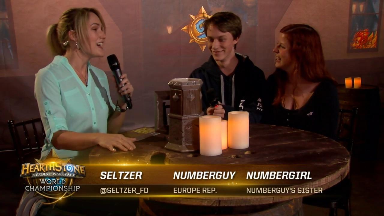 Numberguy選手のインタビューでは、同選手の家族のNumbergirlさんが登場。