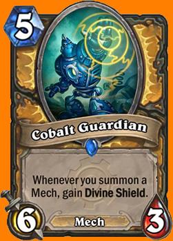 あなたがMech Minionを召喚するたびにDivine Shieldを得る。