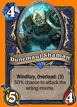 Windfury, Overload: (1), 50%の確率で、対象として指定していない敵を攻撃する。