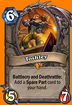 Battlecry および Deathrattle: 1枚のSpare Partカードをあなたの手札に入れる。