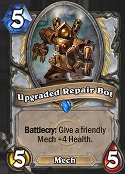 Battlecry: 自軍のMech MinionにHealth +4を与える。