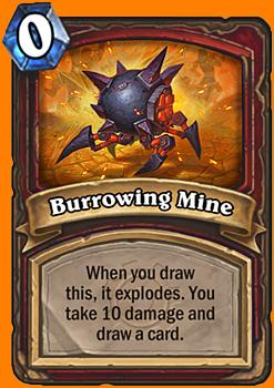 このカードを引いた時に、このカードは爆発してあなたのHeroに10ダメージを与える。カードを1枚引く。