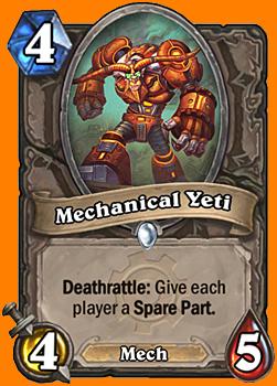 Deathrattle: 両方のプレイヤーにSpare Partカードを与える。