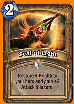 あなたのHeroのHealthを4回復する。このターンだけ、あなたのHeroにAttack +2を与える。