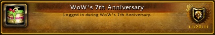 WoW's 7th Anniversary Achievement