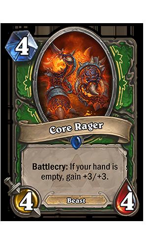 Battlecry: あなたの手札カードが1枚もないと+3/+3を得る。