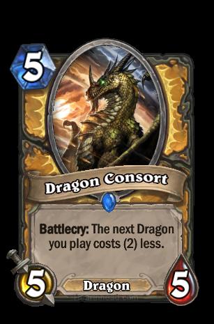 Battlecry: 次にプレイするDragon種族のMinionカードのコストを2減らす。