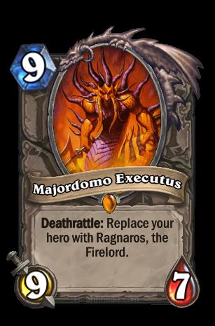 Deathrattle: あなたのHeroをRagnaros the Firelordに置き換える。