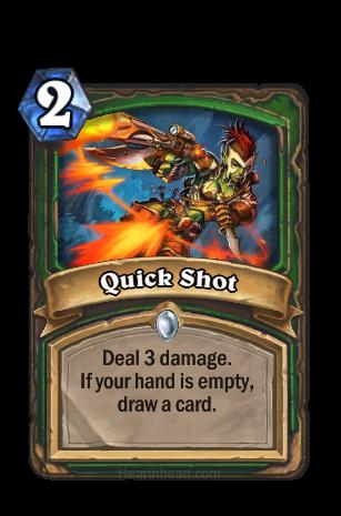 3ダメージを与える。あなたの手札カードが1枚もないと、カードを1枚引く。