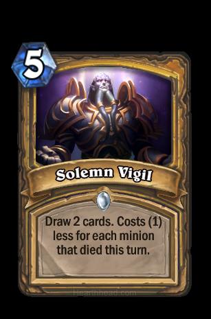 カードを2枚引く。このターンにMinionが1体死亡するたびにコストが1減る。