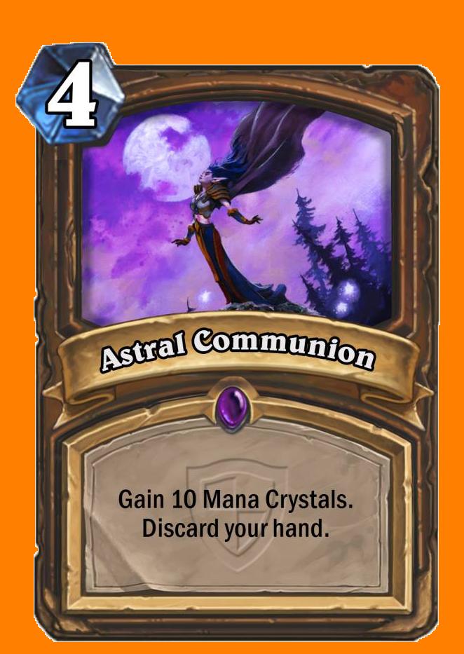 Mana Crystalを10個得る。あなたの手札カードを全て破棄する。