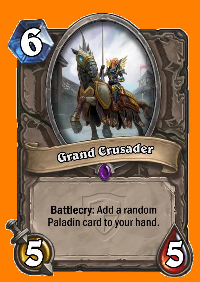 Battlecry: ランダムに選ばれたPaladin専用カードを1枚あなたの手札に入れる。