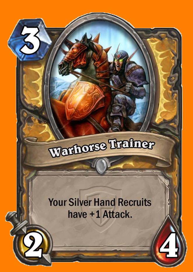 あなたの全てのSilver Hand RecruitがAttack +1を得る。