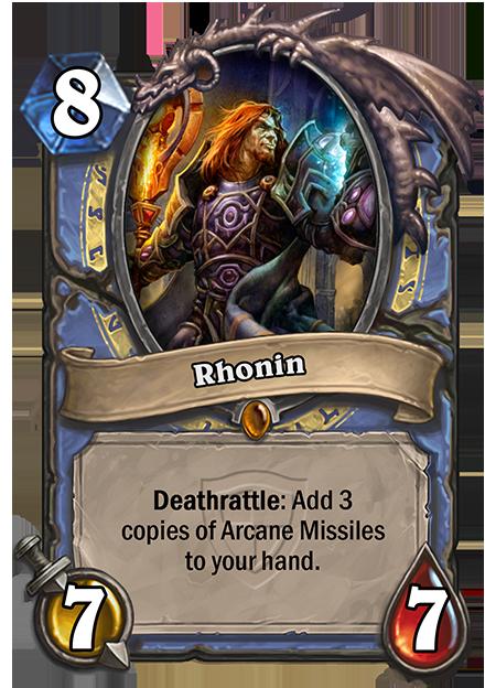 Deathrattle: 3枚のArcane Missilesをあなたの手札に入れる。