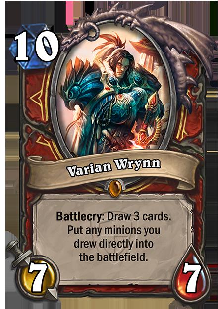 Battlecry: カードを3枚引く。その中にMinionカードがあれば、それらを全て自陣に配置する。