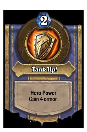 (Warrior) あなたのHeroにArmor +4を与える。
