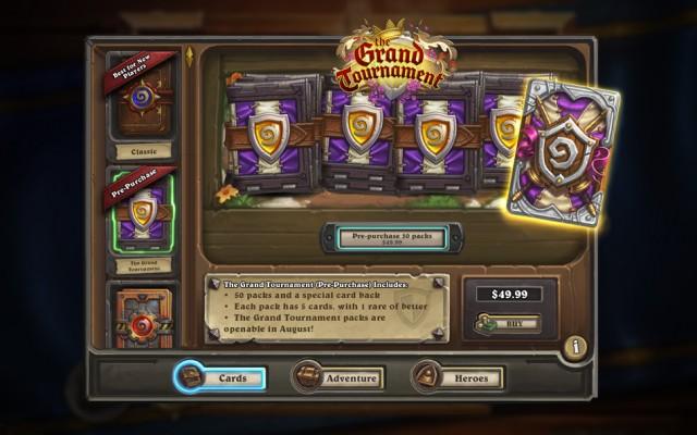 The Grand Tournament カード・パック事前販売