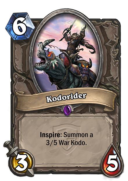 Inspire: 3/5のWar Kodoを召喚する。