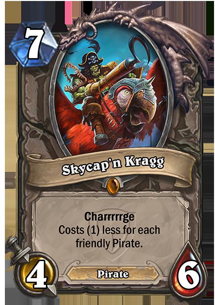 Charrrrrge, 場に出ている自軍のPirateの数だけコストが減る。