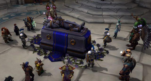 「World of Warcraft: Legion」スクリーンショット ヴァリアン・リンの葬儀に出席するティランダたち