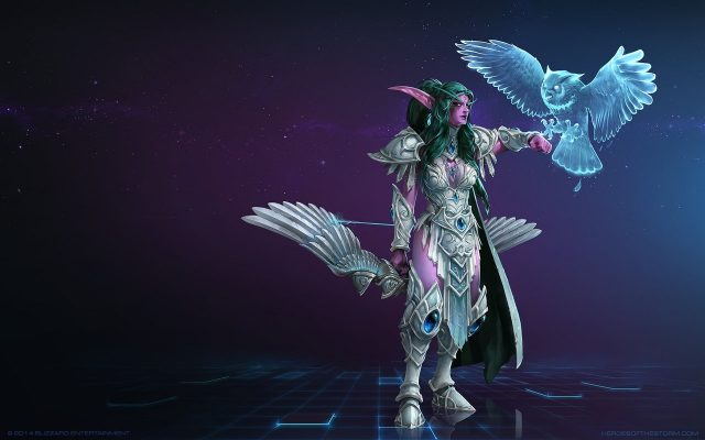 "「Heroes of the Storm」ヒーローのティランダ ""High Priestess of Elune Skin"""