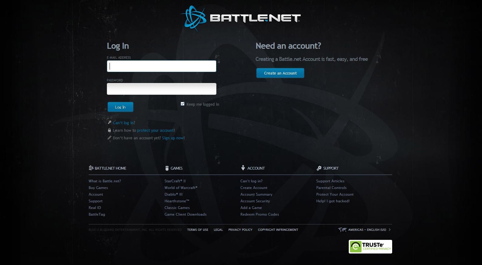 Battle.net トップページ