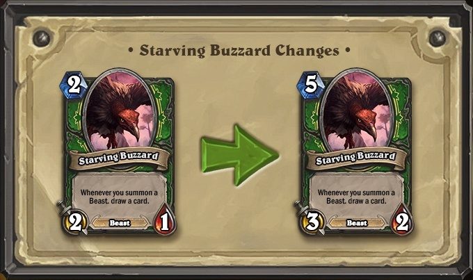 Starving Buzzard Changes
