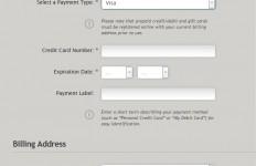 クレジットカード 登録画面