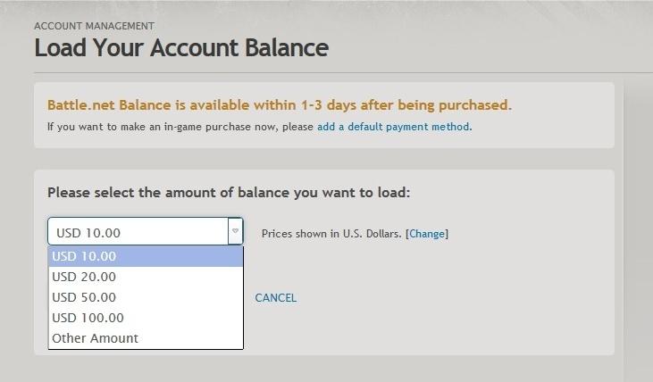 Battle.net Balance