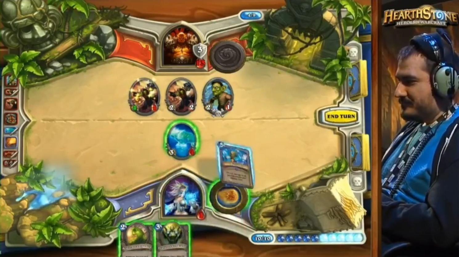 生き残るためには敵を殲滅するしかないが、Leper GnomeのDeathrattleでとどめを刺されてしまう―― Blizzardのプレイによる自決という、劇的な幕切れとなった決勝戦。