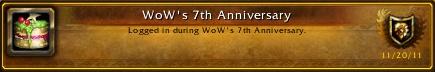 WoW's 7th Anniversary Achievement
