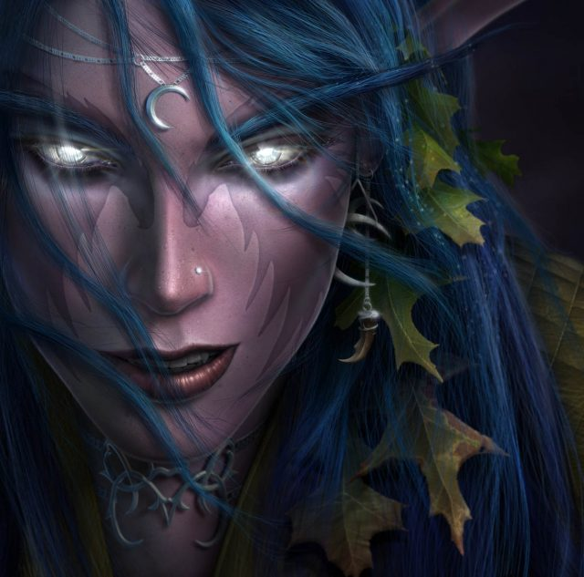 "「Warcraft 3」公式イラスト ""Night Elves"""