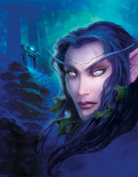 """初代「World of Warcraft」公式イラスト """"Tyrande Whisperwind"""""""